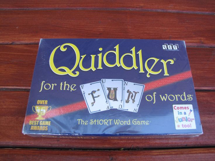 QUIDDLER Card Game - The Short Word Game - New Factory Sealed - Award Winner #Cannei