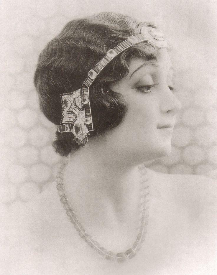 Art Deco Cut Steel Tiara Bandeau Gatsby Hair Accessory Headdress Headpiece Hair…