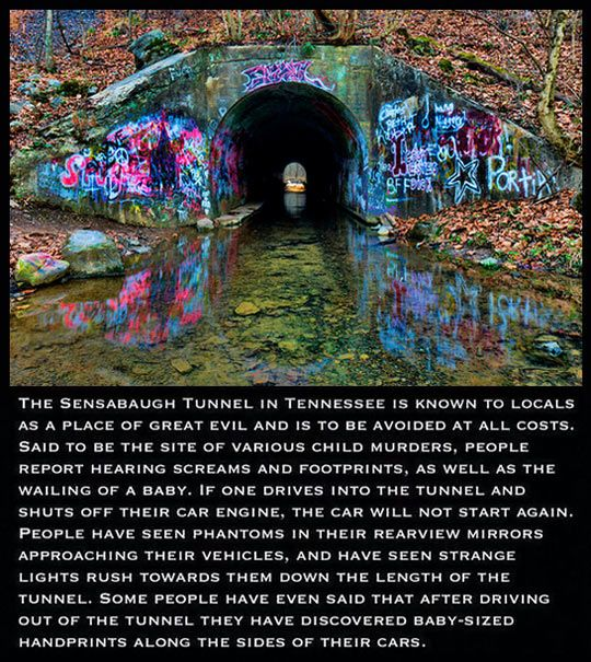 The Sensabaugh Tunnel, Tennessee. There's this strange part of me that wants to go through the tunnel..