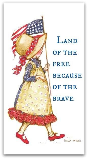 one of my FAVORITE sayings  .  .  .  'because of the BRAVE'  AMEN.