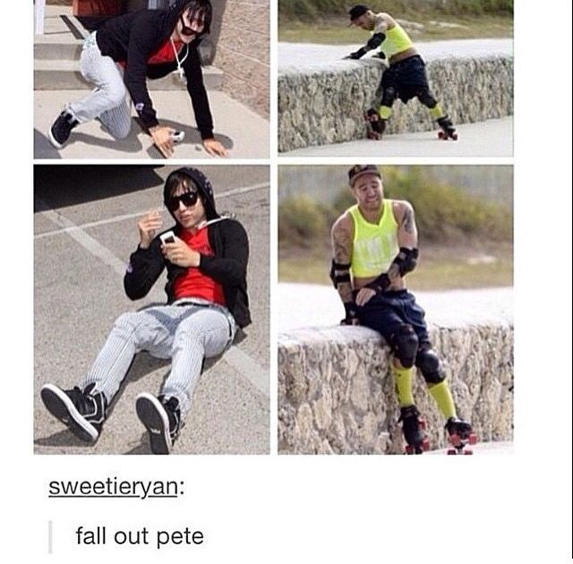 """""""I COULD BE AN ACCIDENT BUT I'M STILL TRYING"""" no stop trying pete, it's working"""