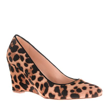 "Collection Martina calf hair wedges - ""streamlined, sculptural, stylish, comfortable..."""