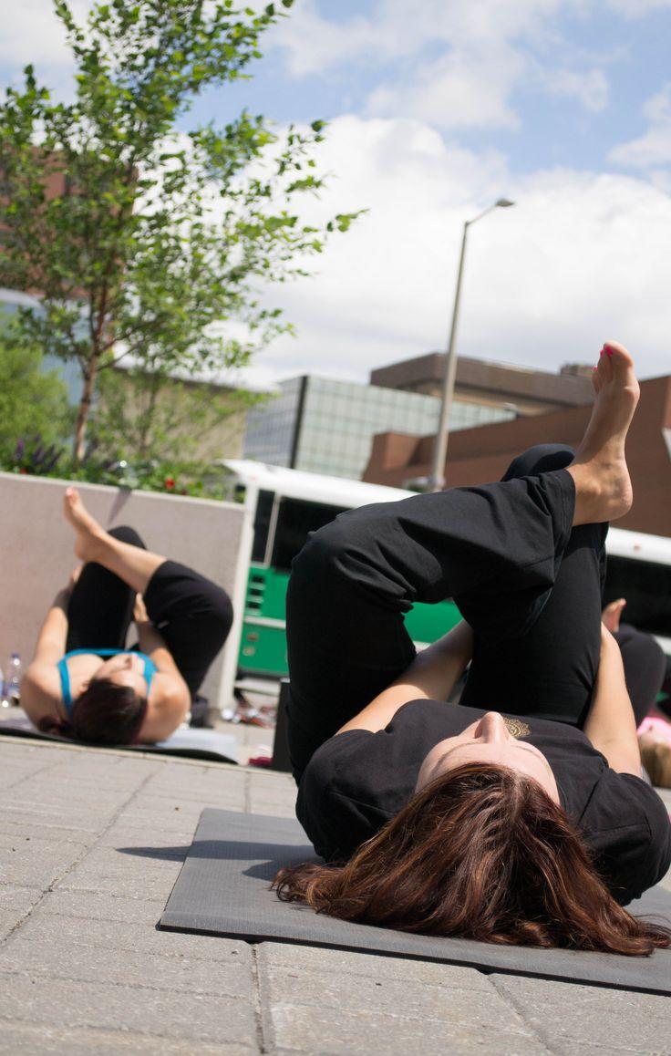 Yoga at City Hall #HamOnt