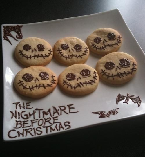 Nightmare before Christmas cookies any thing With jack on it is a good thing