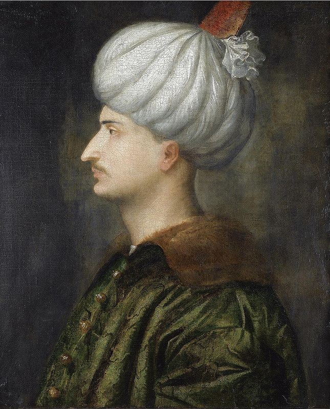 Portrait of Suleiman the Magnificent, Italian portrait by the workshop of Titian, mid 16th c
