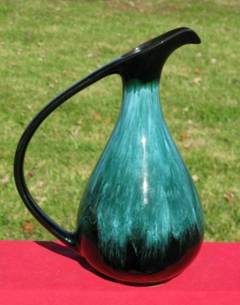 Vintage Blue Mountain Pottery large water pitcher.
