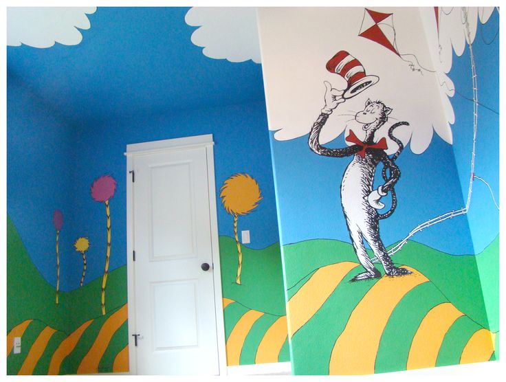 1000 images about dr suess on pinterest for Dr seuss mural