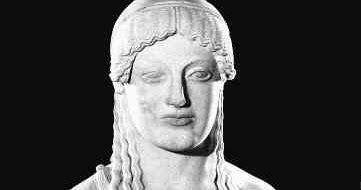 Kora Eutydikosa, posąg zok. 500 roku p.n.e. Ateny. Muzeum naAkropolu.   W przeciwieństwie do kuros (młodzieniec),  kore (dziewczyna) ...