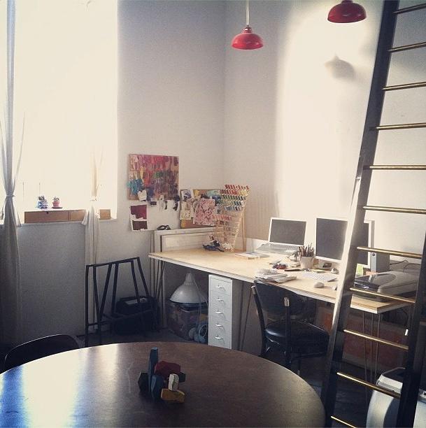 Caroline Hwang's studio.