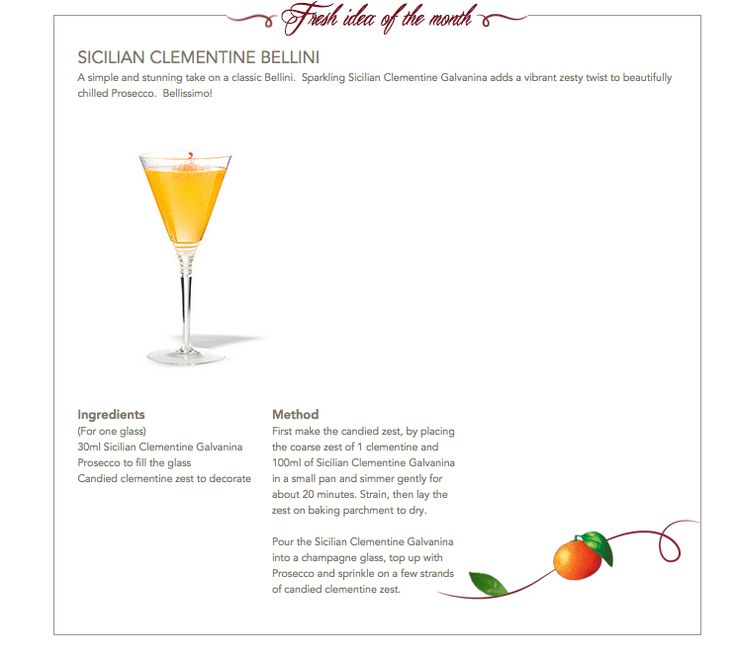 Sicilian Clementine Bellini #Galvanina #drink #recipe