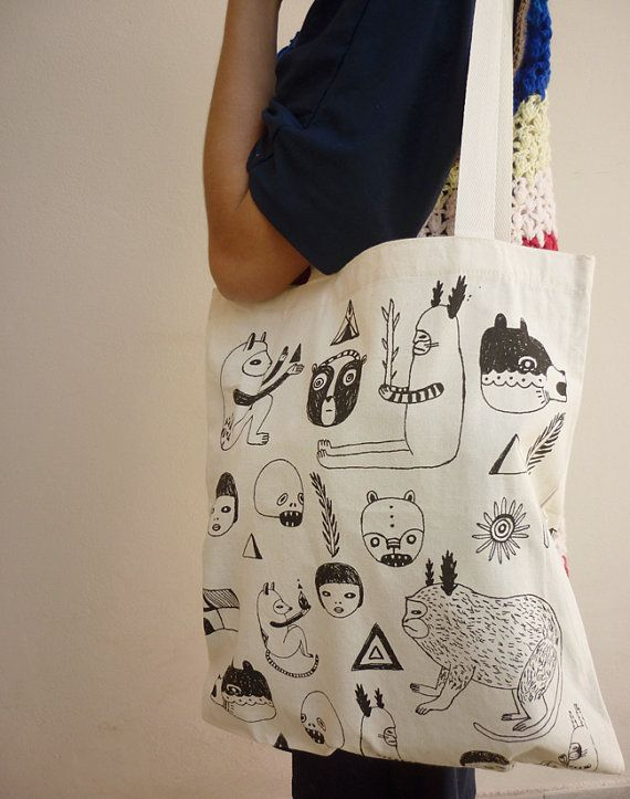 Tote Bag by mirubrugmann on Etsy, $15.00