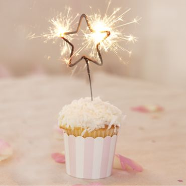 I love this sparkling star candle for any kind of party, but especially for a birthday party.