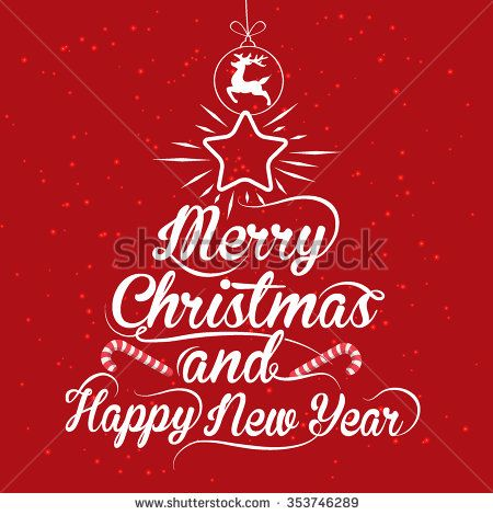 Merry Christmas And Happy New Year Calligraphic - stock vector #background #calligraphy #card #celebration #christmas #conceptual #cover #creative #decorative #design #drawing #element #font #graphic #happy #headline #holly #illustration #inscription #invitation #label #letter #lettering #merry #new #old #paper #party #phrase #print #red #retro #sign #style #text #title #typography #vector #vintage #white #writing #xmas #year