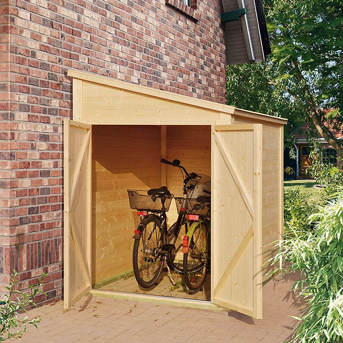 Fahrradgarage Bikebox 2 15 X 1 59 M Geeignet Fur 2 Fahrrader Bauhaus Fahrradbox Fahrradgarage