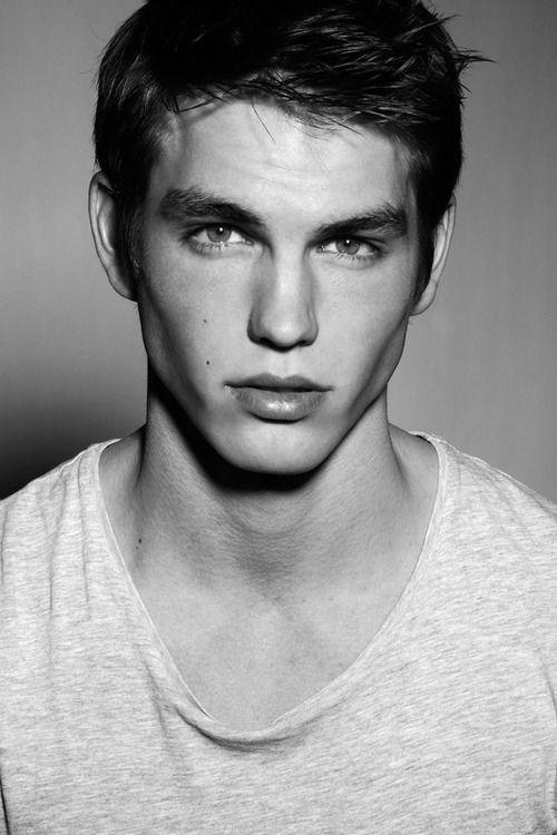 • Black and White Model portrait male model 1000plusnotes adam kai strangeforeignbeauty •
