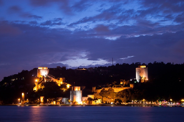 Rumelihisarı is a fortress located in Istanbul, Turkey on a hill at the European side of the Bosporus just north of the Bebek district; giving the name of the quarter around it. It was built by the Ottoman Sultan Mehmed II between 1451 and 1452, before he conquered Constantinople