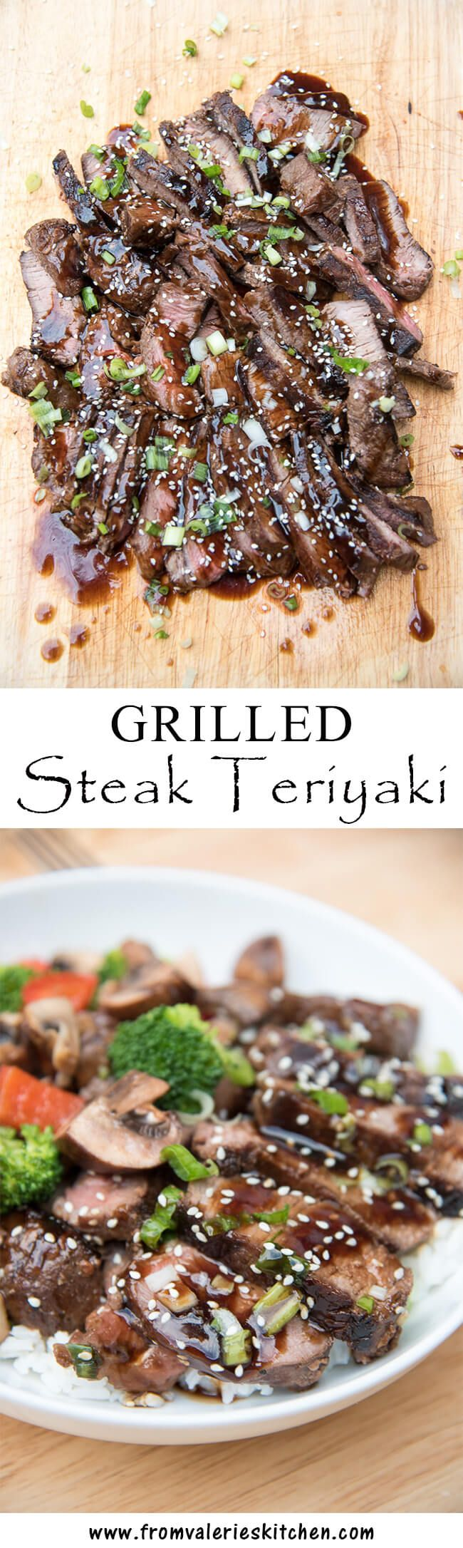 A delicious, from scratch teriyaki sauce that turns ordinary steak into a flavorful, Asian-inspired delight! ~ http://www.fromvalerieskitchen.com