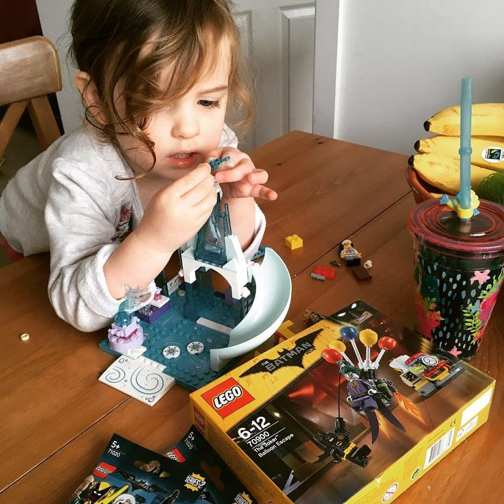 If she was getting some so was I  #twopeasinapod #likefatherlikedaugther #lego #frozen #disney #batman #legobatman