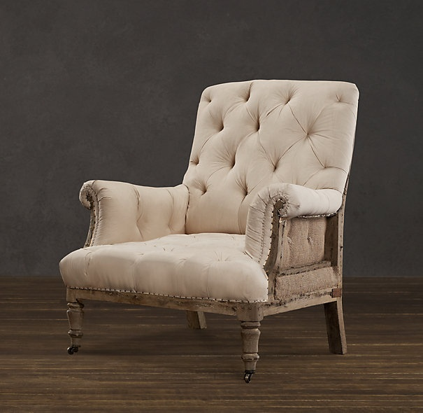 Deconstructed line: Restoration Hardware, Tufted Roll, Chairs, Catalog, Living Room, Deconstructed Tufted, Products