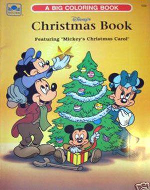 Mickeys Christmas Carol Coloring Book