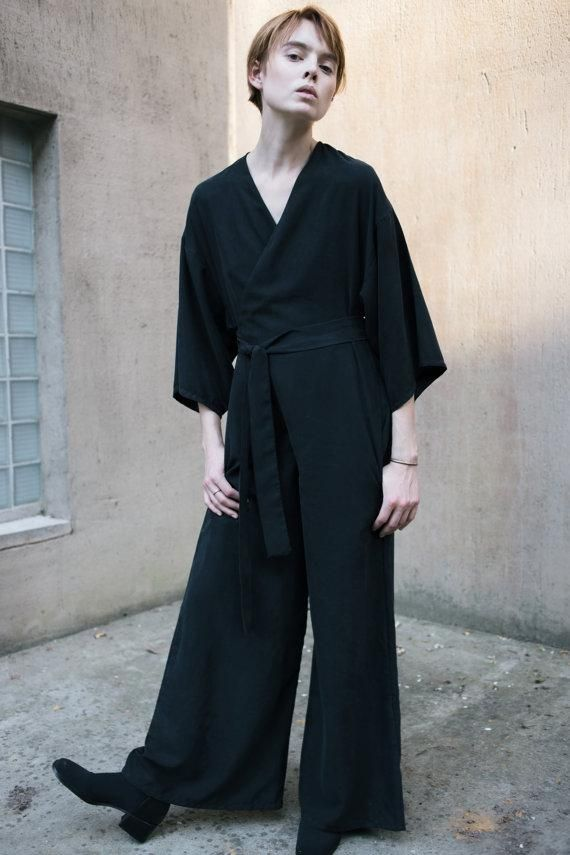 Clean lines and a sophisticated cut make this jumpsuit by LaurenWinterCo one to add to your fall wishlist. #Etsyfashion