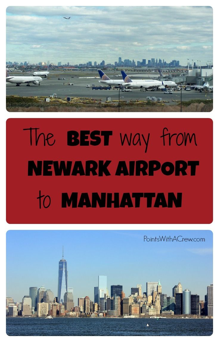 If you're going from Newark Airport in New Jersey, here's the best and cheapest way to get from Liberty to Manhattan in New York City - complete guide with map and step by step instructions