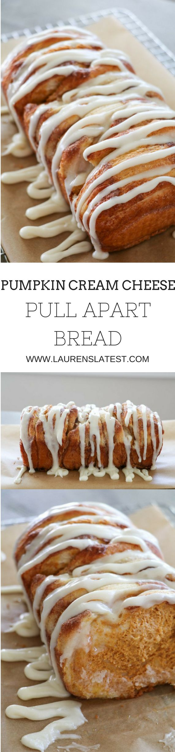 Pumpkin Cream Cheese Pull Apart Bread!! Holy dreamy and easy batman!