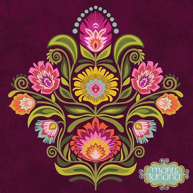 #wycinanki #Polish #folk #art #surfacepattern #design  #czech #ornament #flower #floral