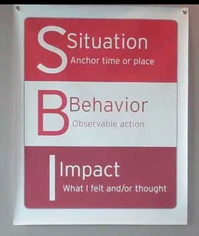 Formula for giving  receiving feedback
