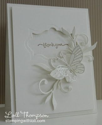 card by Loll Thompson... all white... would make pretty wedding card as well: