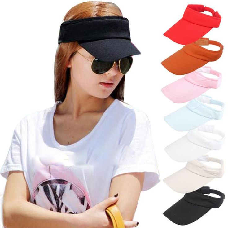 2017 Brand New Women Visor Sun Plain Hat Adjustable Sports Cap Colors Golf Tennis Beach Hat Janu16