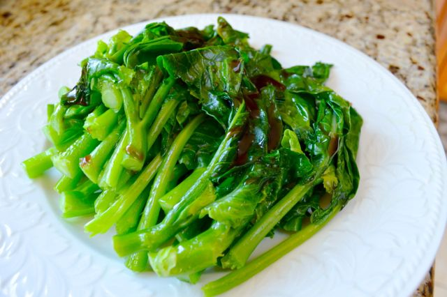 Chinese broccoli with oyster sauce | Recipe | Green, Healthy side ...