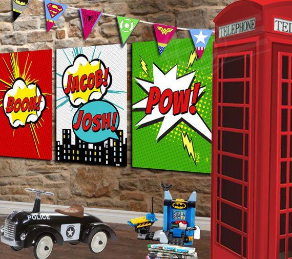 Superhero Canvas Superhero Room Decor Superhero Decor Superhero Wall Art Comic  Book Decor Superhero Nursery Decor for Boys Superhero Art. 17 Best ideas about Comic Book Rooms on Pinterest   Magazine