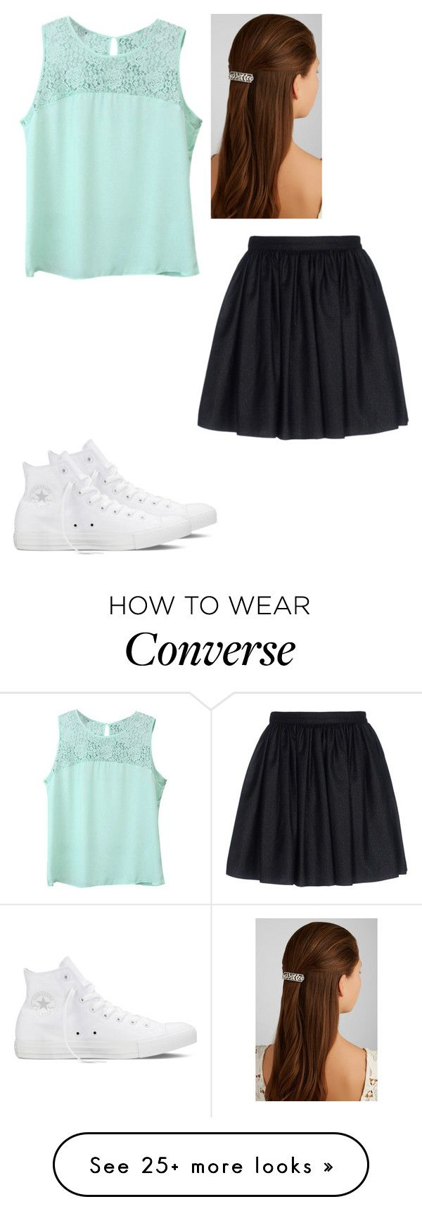 """Untitled #84"" by hannahmcpherson12 on Polyvore featuring Jennifer Behr, Converse and Mauro Grifoni"