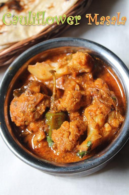 YUMMY TUMMY: Cauliflower Masala Recipe / Gobi Masala Recipe