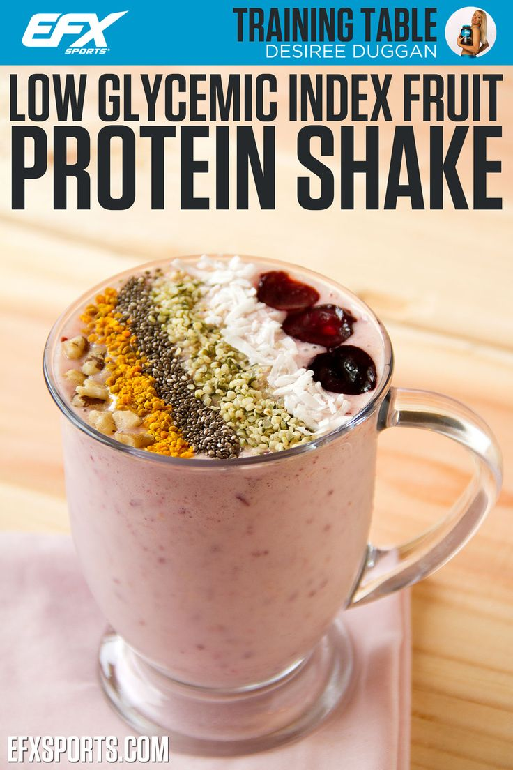 Have you ever wondered why sometimes only ten minutes or so after you eat certain foods, you feel hungrier than if you ate nothing at all? That's because you ate something with a high Glycemic Index (GI) that was rapidly digested and absorbed into the bloodstream, causing your blood sugar to rise and your insulin to spike. This shake is low! #gi #lowgi #proteinshake #smoothie #lowglycemic - See more at: http://www.efxsports.com/low-glycemic-index-fruit-protein-shake/#sthash.u7p95FWU.dpuf