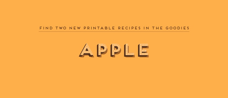 Apple Recipe Cards from The Spoon   Volume 1