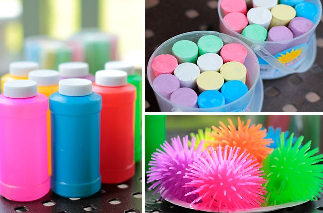 more bday party ideas ($1 bin at target!)