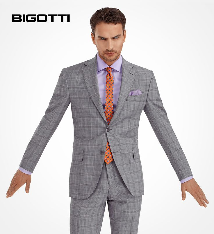 #Trendy and #sophisticated, the #plaid #suit is #perfect for an #office #look, but also for an #important #event.  www.bigotti.ro