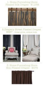 Home furnishing store vs. Custom drapery store. The cost comparison might surprise you!