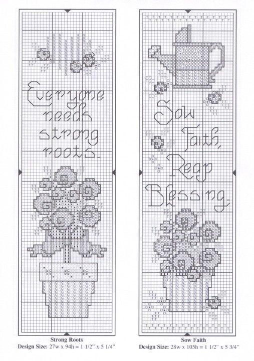 Вышивка крестом закладки для книг схемы и фото примеры