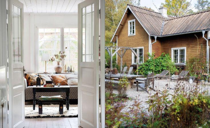 vardagsrum och trädgård