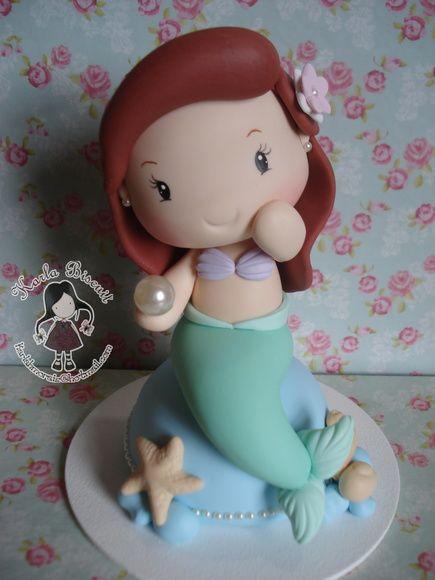 Topo de bolo - Pequena Sereia