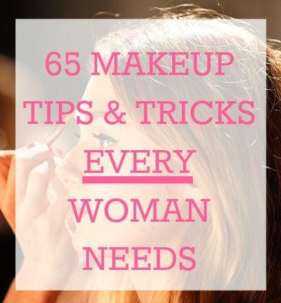 Makeup tips and tricks.
