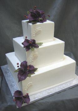 elegant square wedding cakes | Elegant Square Wedding Cakes:Wedding