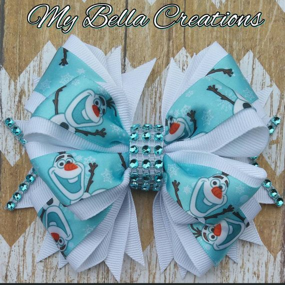 Check out this item in my Etsy shop https://www.etsy.com/listing/278944552/frozen-olaf-45-hair-bow