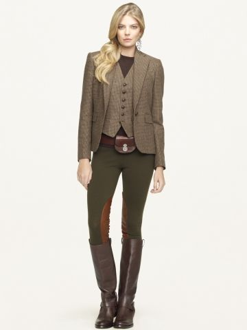 Tweed jacket. And vest! Not so much the fake breeches...