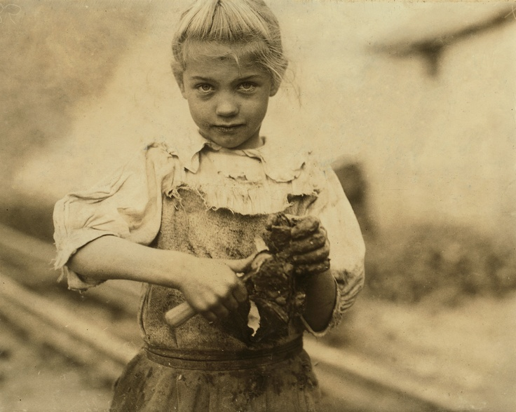 Rosie, 7 years old and shucks oysters all day, Varn and Platt Canning co., South Carolina, 1913