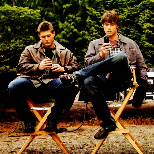 148 Best SPN Behind The Scenes Images On Pinterest