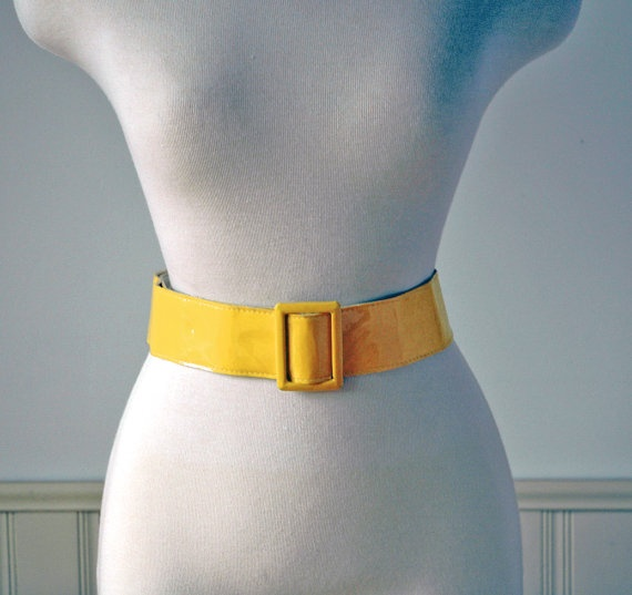 Vintage 1980's Yellow Belt Women's/Ladies Faux by PerpetualVintage, $5.00